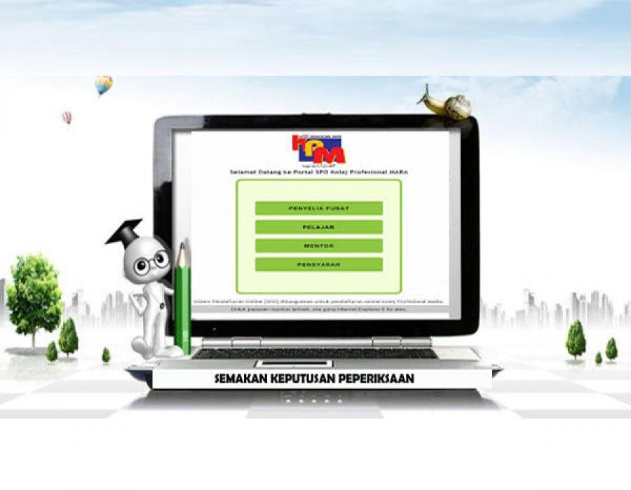 Semakan Keputusan Peperiksaan Laman Web Rasmi Kolej Profesional Mara Bandar Penawar
